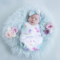 Sweet Petal I Snuggle Swaddle & Topknot Set